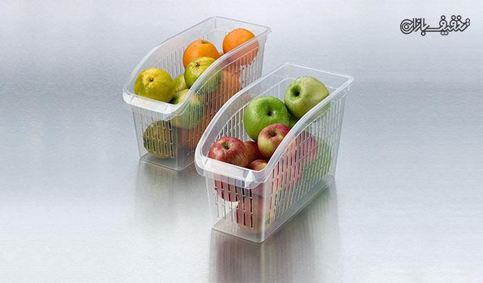 سبد پلاستیکی نظم دهنده یخچال با ۳۳% تخفیف |