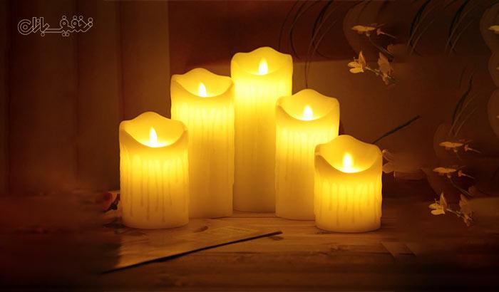 شمع پلاستیکی شعله متحرک باتری خور LED Plastic Swinging Candle در ۵ سایز تا ۵۰% تخفیف و |