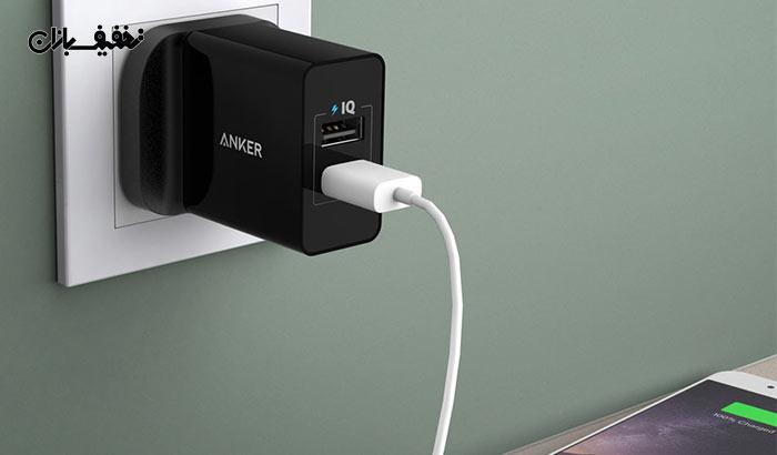 شارژر دیواری انکر (Anker) مدل A۲۰۲۱ Power Port ۲ Power IQ با ۱۸% تخفیف و |