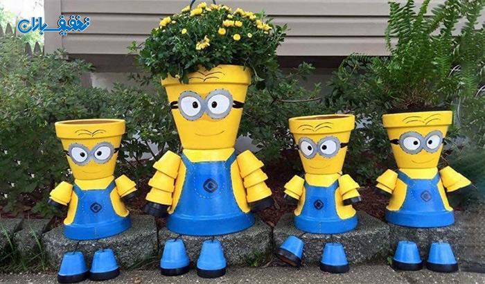 گلدان طرح مینیون در ۲ سایز با ۳۸% تخفیف و |