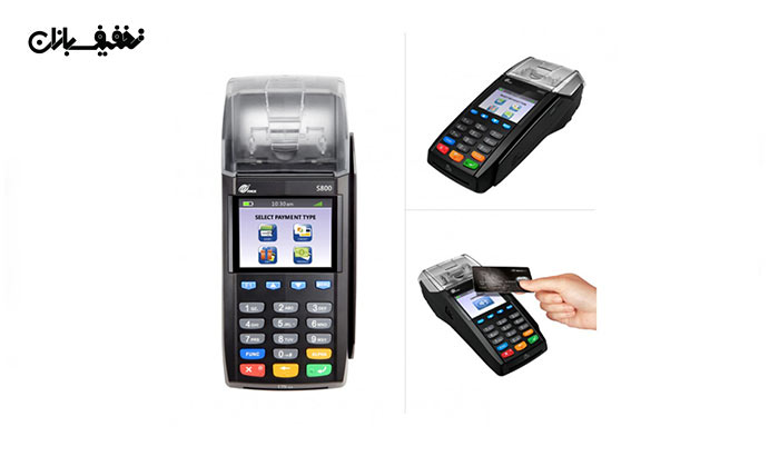 دستگاه پوز سیم کارت خور Pax S910 رنگ مشکی | دستگاه پوز سیم کارت خور Pax S910 رنگ مشکی