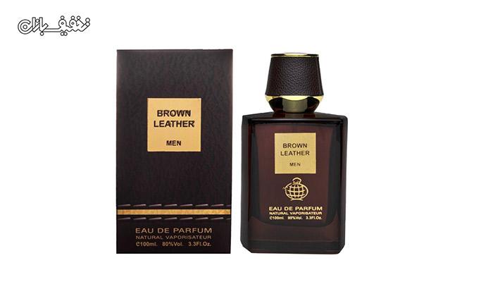 عطر مردانه Brown Leather برند Fragrance World