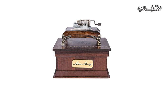 جعبه موزیکال دستی بزرگ با ملودی Love Story
