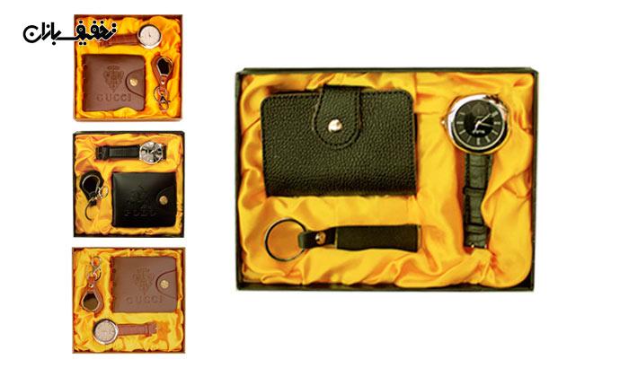 ست ساعت، جا کلیدی و کیف پول چرم